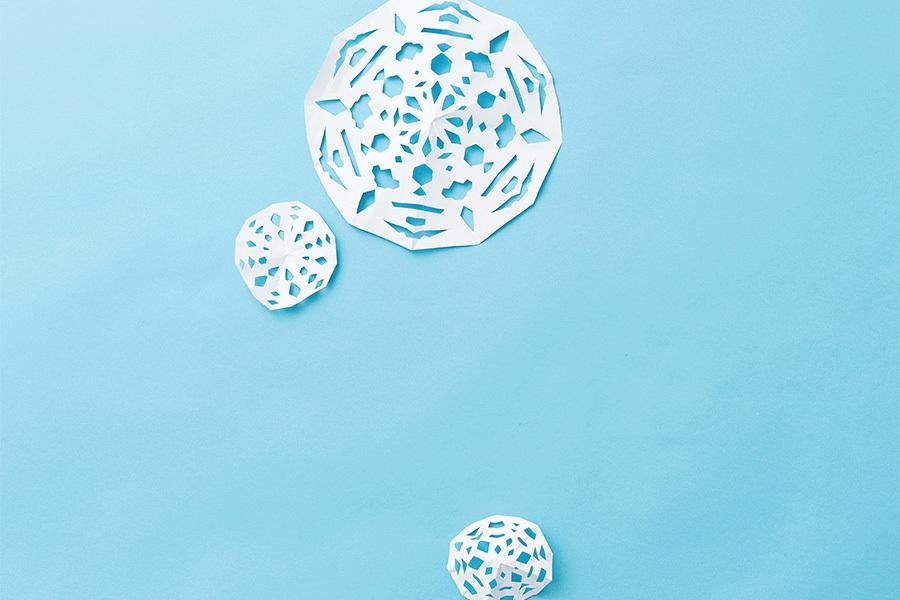 Paper craft idea: snowflakes
