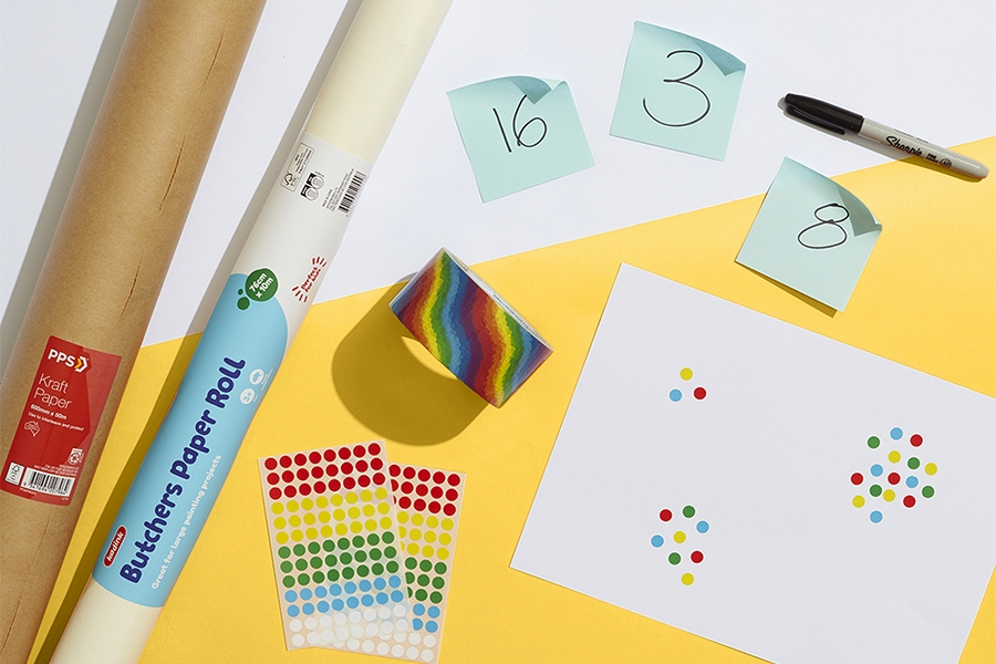 Officeworks stickers, markers and sticky notes for STEM projects for kids