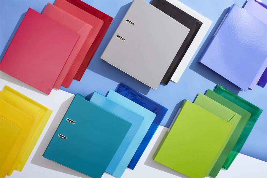 Officeworks lever arch folders and document filing range