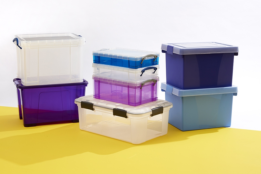 Officeworks plastic storage tubs are perfect for organising your kids