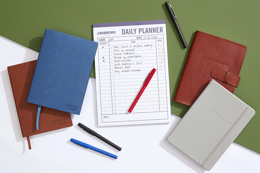 Officeworks planners and schedules for productive remote work