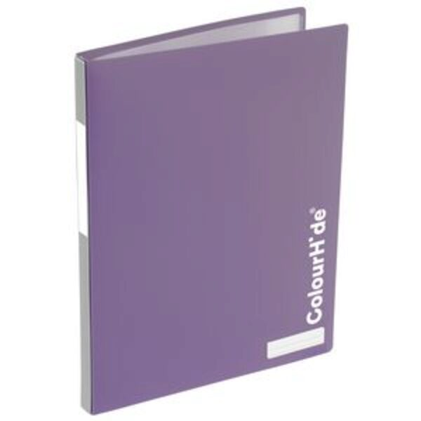 ColourHide My Refillable Display Book A4 20 Pocket Purple
