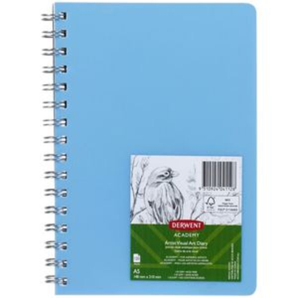 Derwent Academy Visual Art Diary 110gsm 120 Pages A5 Blue