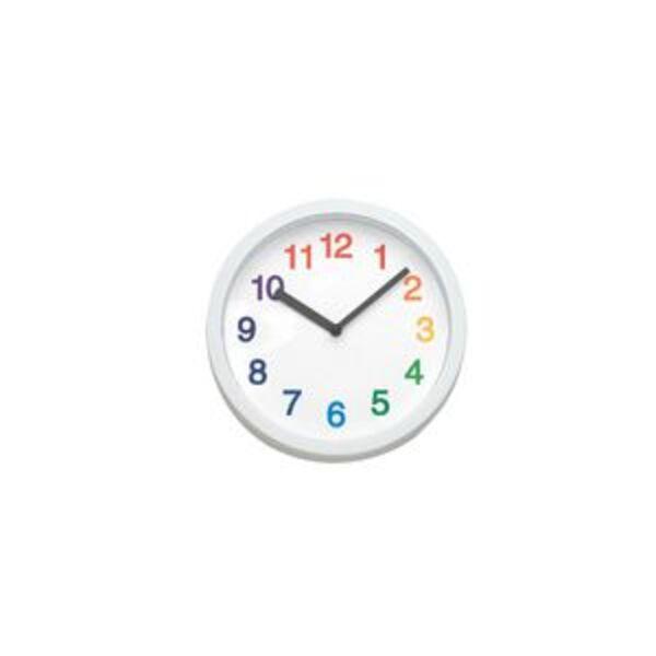 Degree Prism 20cm Clock Multi Coloured Officeworks