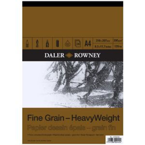 Daler-Rowney Fine Grain Heavyweight Pad 200gsm 30 Sheets