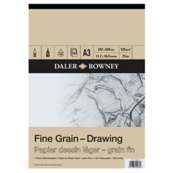 Daler-Rowney Fine Grain Drawing Pad 120gsm 30 Sheets A3