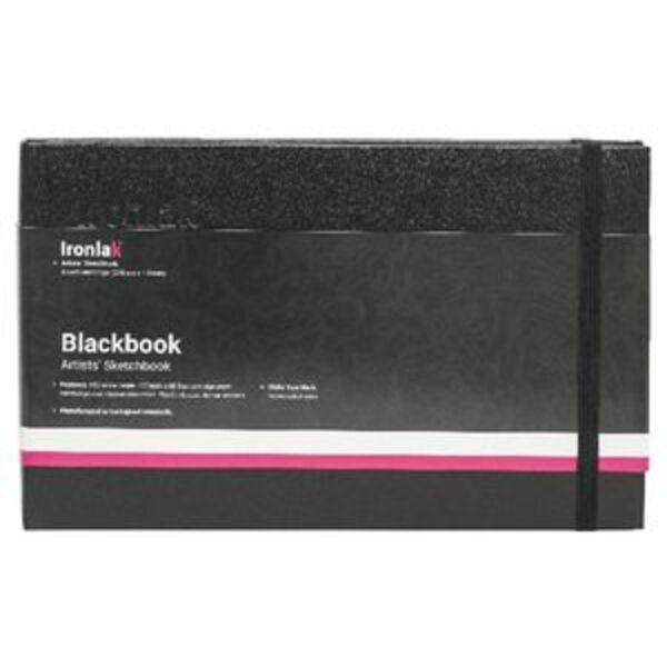 Ironlak Artist Black Book Sketchbook A5 Landscape
