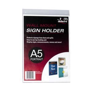 Deflecto Wall Mount A5 Sign Holder Portrait Officeworks
